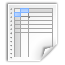 Spreadsheet, office, paper, document, File WhiteSmoke icon