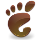 Gnome, here, Brown, start SaddleBrown icon