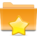 Kde, bookmark, Folder Goldenrod icon