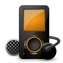 ipod, mount Black icon