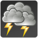 climate, weather, Storm DarkSlateGray icon