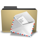 Letter, envelop, manilla, mail, Folder, Email, Message Black icon