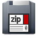 media, Zip DarkSlateGray icon