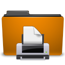 Print, Folder, printer, Orange DarkGoldenrod icon