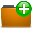 Folder, new, Orange DarkGoldenrod icon
