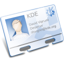 Kaddressbook, Contact, business card, Vcard, Kde, profile Lavender icon