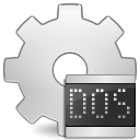 Ms, Dos, Application, executable Gainsboro icon