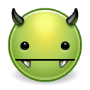 Devil, monster, Avatar, vampire, comix, green, evil DarkKhaki icon