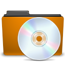 disc, Disk, Orange, Cd, Folder, save DarkGoldenrod icon