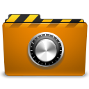 Orange, locked, Folder, Lock, security DarkGoldenrod icon