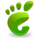 start, Gnome, green, here Black icon