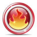 nerolinux, nero, fire, hot Black icon