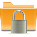 Folder, locked, security, Kde, Lock Goldenrod icon