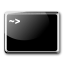 Console, ssh, guake Black icon