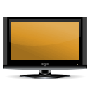 Tv, monitor, video, Display, screen, television, Computer Goldenrod icon