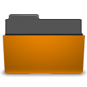 open, Folder, Orange DarkGoldenrod icon