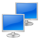network, receive, Transmit RoyalBlue icon
