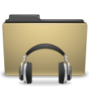 Folder, sound, manilla, voice DarkKhaki icon