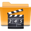 Folder, Kde, video Goldenrod icon