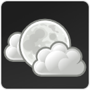 Cloud, few, night, climate, weather DarkSlateGray icon