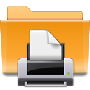 Folder, Kde, Print, printer Goldenrod icon