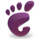 violet, start, Gnome, here Black icon