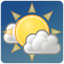 Cloud, few, climate, sun, weather DarkSlateBlue icon