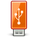 Usb, hard disk, drive, Orange Black icon