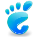 Gnome, here, Footmark, skyblue, start Black icon