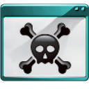 Hacker, Panel, Force, Exit, logout, sign out, skull, quit, Gnome Icon