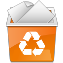 Full, people, profile, Account, Human, user, new, trash can DarkOrange icon