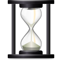 history, open, paper, document, time, recent, Wait, File, Hourglass DarkSlateGray icon