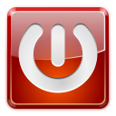 Power off, shutdown, Gnome, turn off DarkRed icon