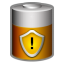 Energy, Battery, charge, Caution Black icon