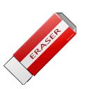 Del, package, Clear, delete, remove, purge, Clean, erase, pack, Eraser Firebrick icon