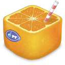 sound, Juicer, voice DarkOrange icon