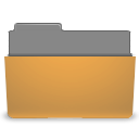 Folder, Orange, visiting DarkGoldenrod icon