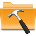 Develop, Folder, Kde, Development Goldenrod icon