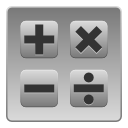 Accessory, calculator, Calc, calculation DarkGray icon
