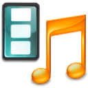 music, Multimedia, movie, Application, film, video Black icon