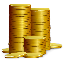 Currency, Cash, Emblem, Money, coin Black icon