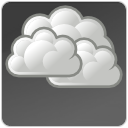 Overcast, climate, weather DimGray icon