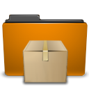 Orange, Tar, Folder DarkGoldenrod icon