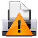 gtk, Error, warning, wrong, Alert, exclamation, Print, printer WhiteSmoke icon