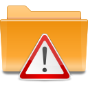 Kde, important, Folder Goldenrod icon