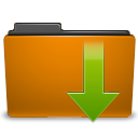 Orange, Downloads, Folder DarkGoldenrod icon