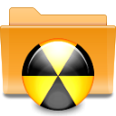 Folder, Burn, Kde Goldenrod icon