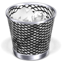 new, trash can, Full, mac DarkSlateGray icon