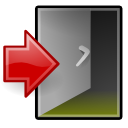 Exit, quit, Application, logout, sign out Gray icon