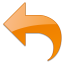 Undo, writing, Reset, old, Arrow, Orange, Edit, write, return Black icon